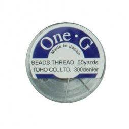 Toho One-G Beading Thread Gray