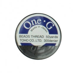 Toho One-G Beading Thread Black