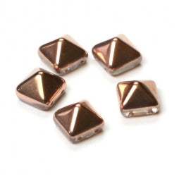 Pyramid Beads 12x12mm Crystal Gold