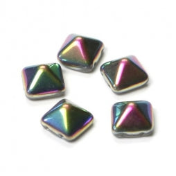 Pyramid Beads 12x12mm Crystal Vitrail