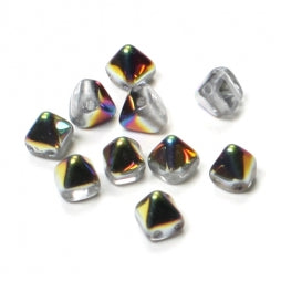 Pyramid Beads 6x6mm Crystal Vitrail