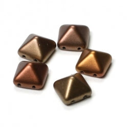 Pyramid Beads 12x12mm Metallic Mix