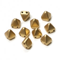 Pyramid Beads 6x6mm Aztec Gold