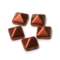 Pyramid Beads 12x12mm Copper