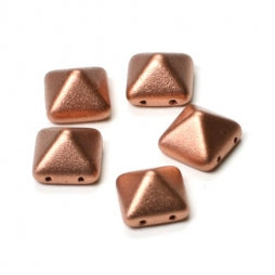 Pyramid Beads 12x12mm Vintage Copper