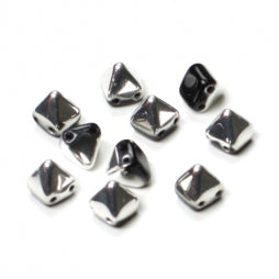 Pyramid Beads 6x6mm Jet Labrador