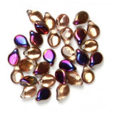 Pip Beads 5x7mm Crystal Sliperit