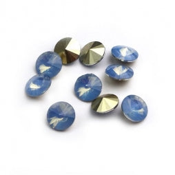 Resin Rivoli 8mm Opal Light Blue