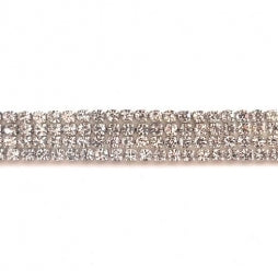 Strass Ketting SS6/2mm Zilver - Crystal
