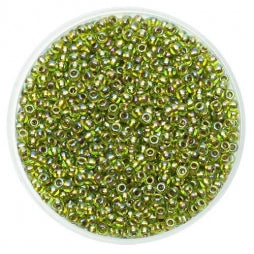TR-11-996 Gold Lined Rainbow Peridot