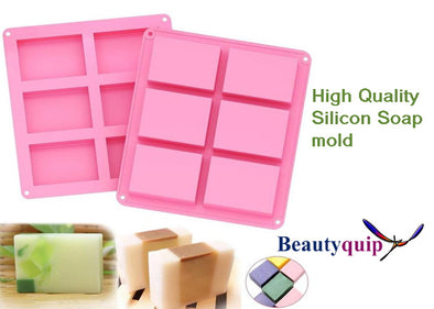 Soap Mold Reusable Rectangle x 6