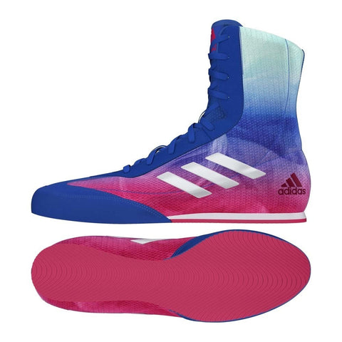 Adidas Box Hog Plus Boxing Boots Blue / Pink