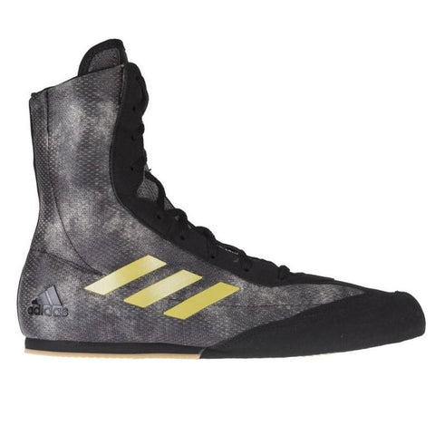 Adidas Box Hog Plus Boxing Boots Black / Grey / Gold