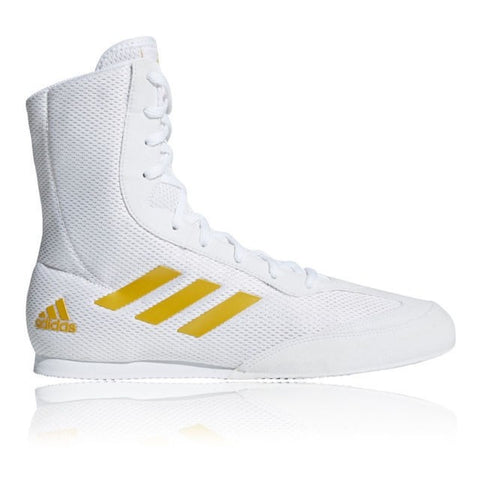 Adidas Box Hog Plus Boxing Boots White / Gold