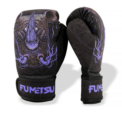 Fumetsu Rampage Kids Washable Boxing Gloves Black / Purple
