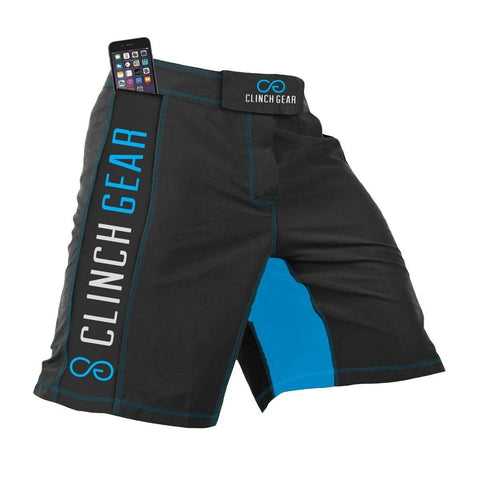 Clinch Gear Crossover 3 Flash Shorts Pewter / Cyan