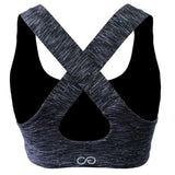 Clinch Gear Multi-Sport Racerback Sports Bra Grey / White