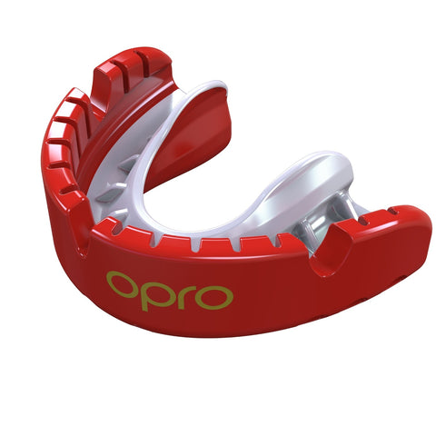 Opro Gold Braces Gen 4 Mouth Guard Red / Pearl