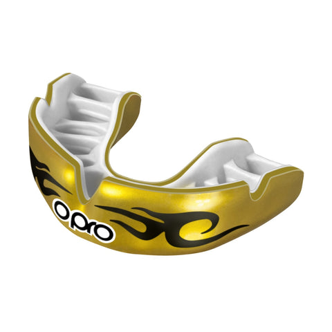 Opro Power Fit Bling Urban Mouth Guard Gold / White