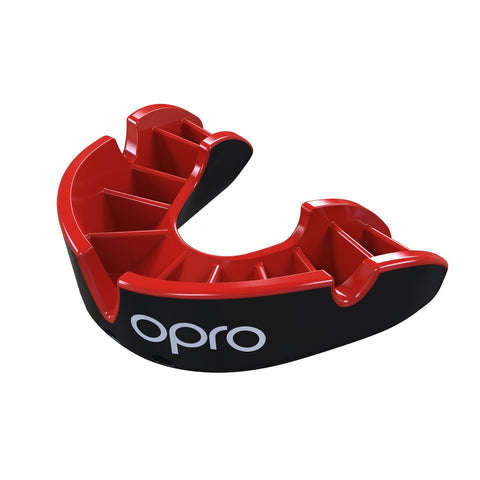 Opro Silver Gen 4 Mouth Guard Black / Red