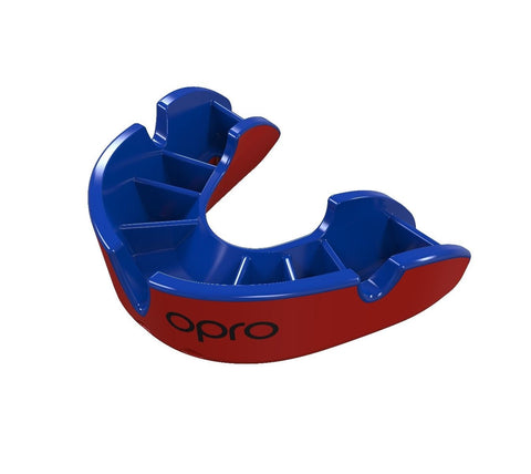 Opro Junior Silver Gen 4 Mouth Guard Red / Blue