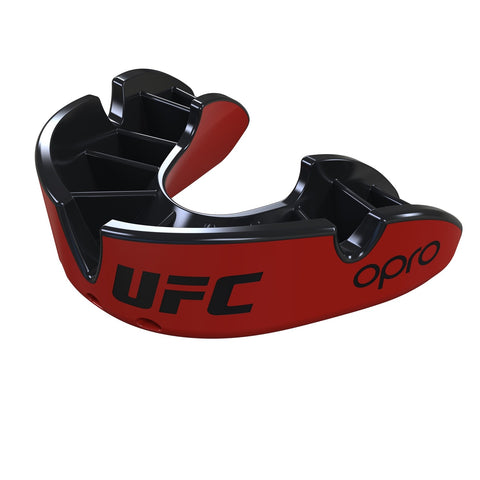 Opro Junior UFC Silver Mouth Guard Red / Black