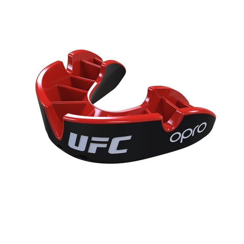 Opro Junior UFC Silver Mouth Guard Black / Red