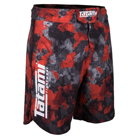 Tatami Fightwear Renegade Camo Fight Shorts Black / Red