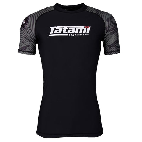Tatami Fightwear Renegade Camo Short Sleeve Rash Guard Black / Green