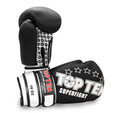 Top Ten Superfight Boxing Gloves Black 16oz