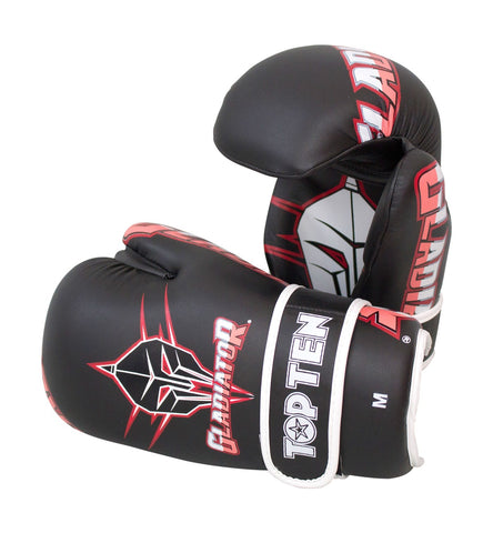 Top Ten Gladiator Open Hand Gloves Black / Red