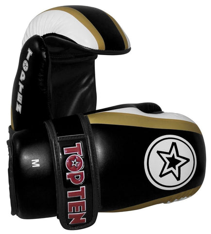 Top Ten Stars And Stripes Pointfighter Gloves Black / White