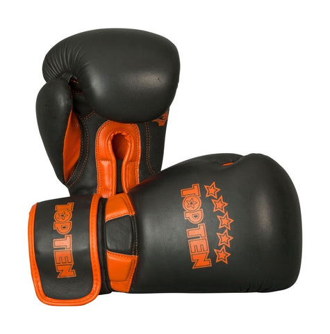 Top Ten Elite Dual Boxing Gloves 12oz Black / Orange