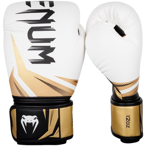 Venum Challenger 3.0 Boxing Gloves White / Black / Gold