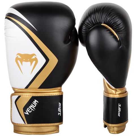 Venum Contender 2.0 Boxing Gloves Black / White / Gold