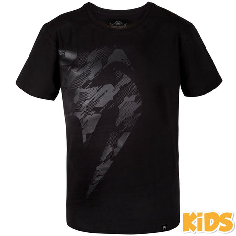 Venum Tecmo Giant Kids T-Shirt Black / Black