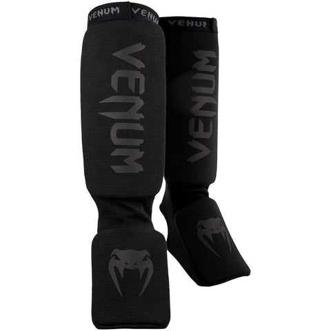 Venum Kontact Shin Instep Guards Black / Black