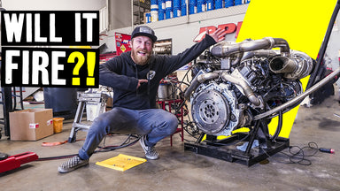 First Fire! Will it Work? The Camaro's 1000hp Duramax Diesel Comes to Life // Knuckle Busters 2 Ep.9