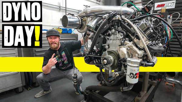 Dyno Time! How Much Power Will Our Compound Turbo Duramax Diesel Make? // Knuckle Busters 2 Ep.10
