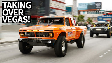 Race Trucks Take Over Vegas Streets! Mint 400 Street Parade