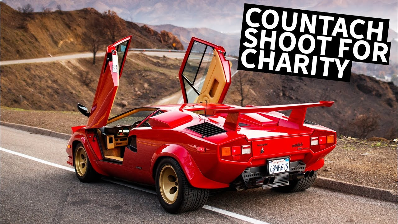 Larry Chen Shoots A Lamborghini Countach For Charity Hoonigan