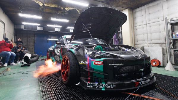 GT86 Antilag Monster Dyno'd at HKS Japan: Burnouts on the Dyno!