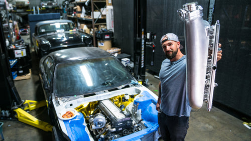Vin Stuffs a Fresh Turbo and Crazy Manifolds in his Nissan s14 Drift Project