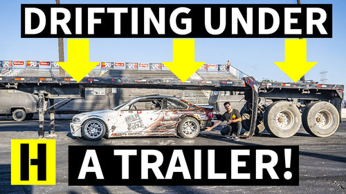 BMW M3 Tandem Drifting Battle UNDER a Trailer! We Finally Raised it Up