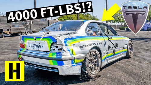 Bats#*t Crazy Tesla-Powered BMW M3 Pikes Peak Special From EV West