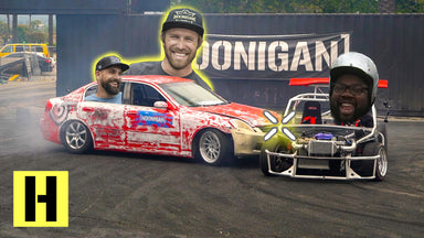 Hoonigan Team Bonding at the Burnyard: G35 and ShartKart Tandems!