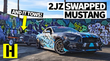 A 2JZ Swapped Ford Mustang - Built in Just 30 Days for Drift Week. And the AC Works Too!