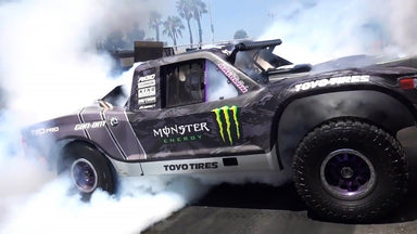 BJ Baldwin's 800HP Trophy Truck Decimates the Donut Garage