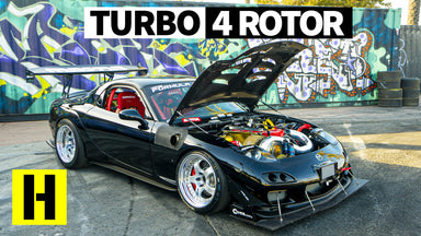 Savage 1000hp Turbo Four Rotor RX-7 Sounds Like an Angry F1 Car