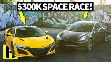 NSX vs Tesla: The Space Race of the Future!?